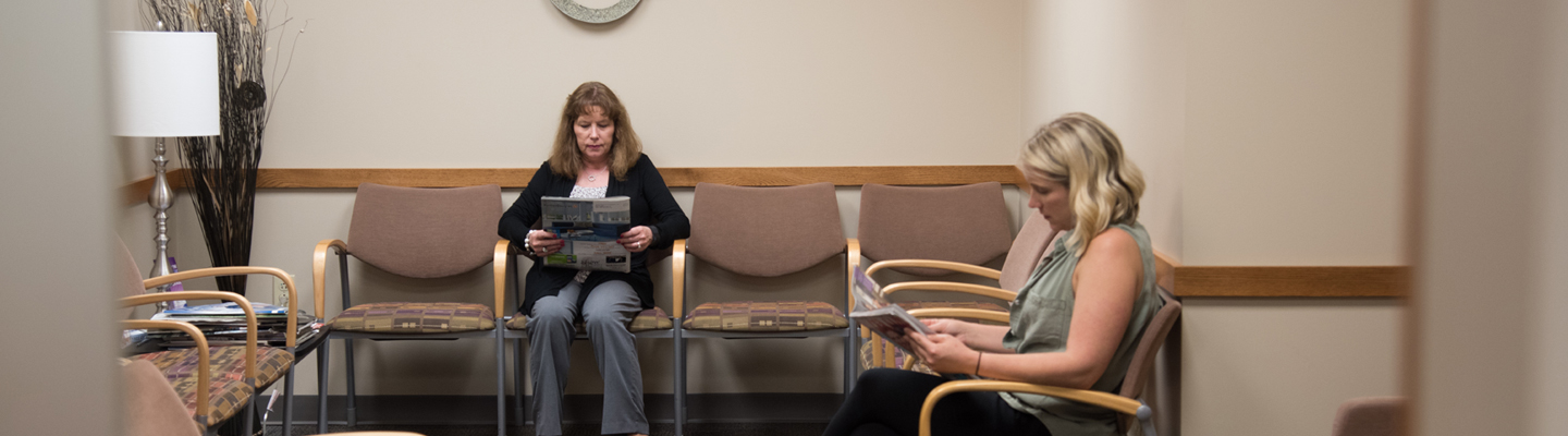 Patient waiting room at Washington University Complete Care